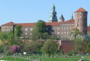 Zamek Królewski na Wawelu, widok od strony Wisły